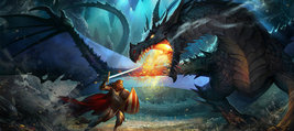 Dragons Knight  Fighting       2.5 x 4.5 Fridge Magnet - $4.99