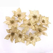 Artificial Flower Ornaments For Christmas Tree Home Decoration 8pcs Set ... - $6.98