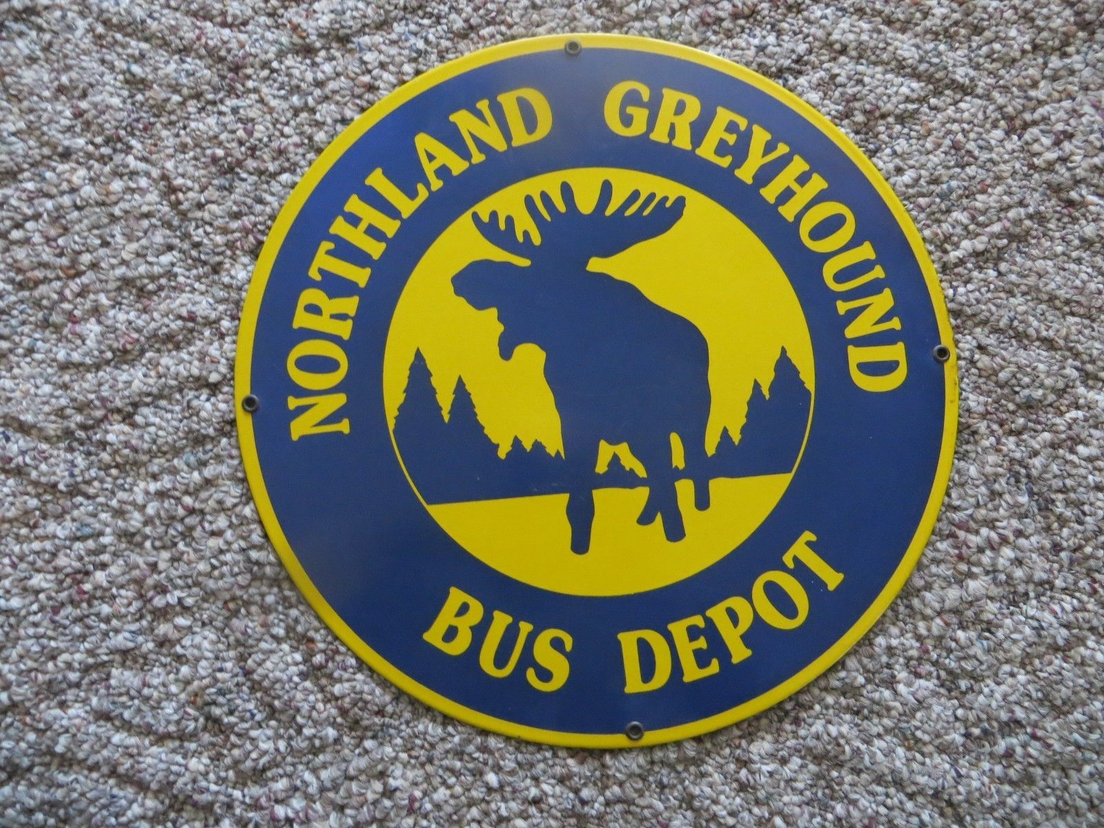 Northland Greyhound Bus Depot Porcelain And 50 Similar Items