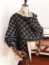 Black Women Silk and Cashmere Blend Scarf,Scarves 190*70cm G1069 - $22.99