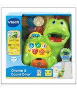 VTech Chomp and Count Dino Talking Green Dinosaur Toy  - $19.79