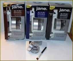 """NEW 3 X Jane """"BE PURE"""" Mineral Gel Eyeliner  Dark Brown  Navy  Black  FR... - $16.95"""