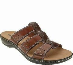 Clarks Collection Black Sole Slide Sandals - Leisa Spring/ Color BROWN 8 1/  BC3 - $53.33