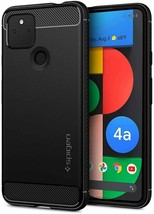 Pixel 4a 5G Case 2020 Rugged Armor TPU Resilient Shock Absorption Matte Black - $19.79