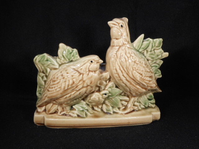 "Vintage McCoy Pottery 9"" Quail Plant Holder"
