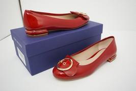 Stuart Weitzman Lovebuck Women's Ballet Flats Buckle Red Patent Leather ... - $166.14