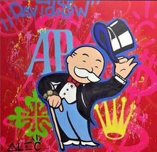 "Alec Monopoly Print on Canvas Abstract Urban Art Wall Decor AP 24x24"" - $29.69"