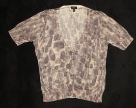Talbots Petites Tan Brown Short Sleeve Cardigan Sweater Size L Large - $18.57