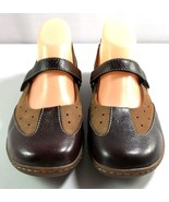 Born Women's Mary Jane Shoes Brown Two Tone Leather Size 8 / 39 - $40.01