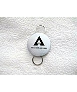 """Weyerhaeuser Logo 1.25"""" Round Silver Tone Key Chain Double Ring - Rings ... - $14.84"""