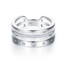 Wedding Band Anniversary Solid 925 Sterling Silver Ring Jewelry  - $99.99