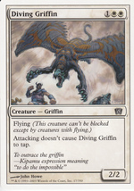 Magic The Gathering Diving Griffin White Border Card #17/350 - $0.99