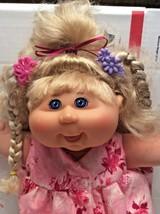 "Cabbage Patch Pop 'N Style Kid soft blond corn silk hair Blue-eyed 13"" G... - $18.70"