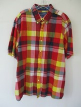 Saddlebred Men's Size XL Multicolor Plaid Short Sleeve Button-Front Shir... - $20.80
