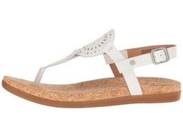 UGG AYDEN II White Women's T-Strap Leather Flat Sandals 1094930 - $80.00