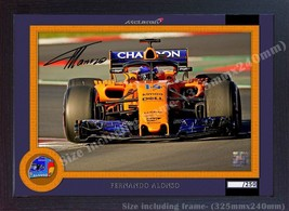 Fernando Alonso Formula 1 print photo poster signed autograph GP FRAMED ... - $19.27