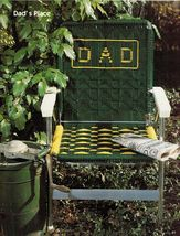 Vtg Macrame 11 Lawn Patio Chairs Sails Dad Personalized Pattern Book New - $16.99