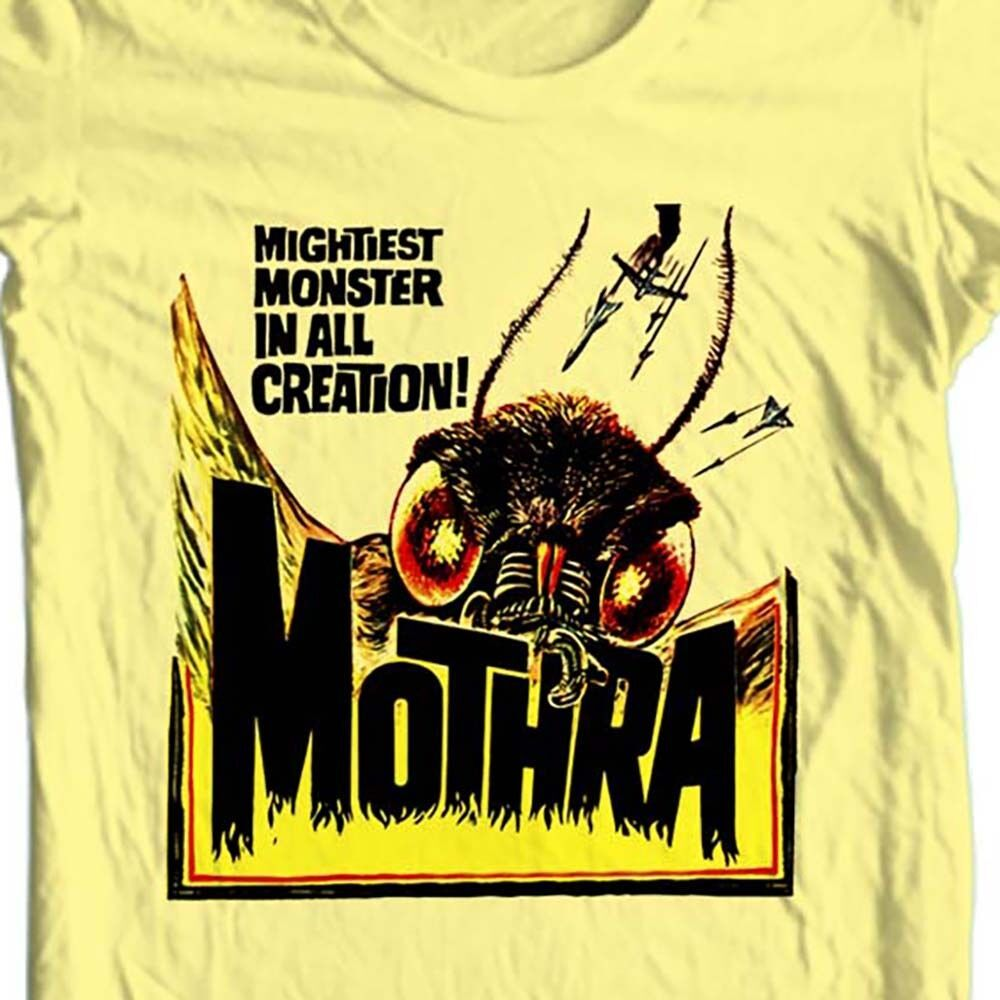 Mothra T-shirt retro sci fi  monster movie Godzilla 100% cotton graphic tee