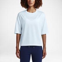 Nike NikeLab Essentials Women's Cotton Crew T-Shirt Blue size: L (834263 408) - $45.00