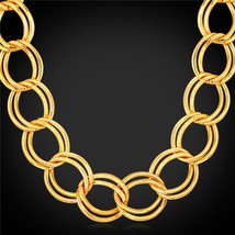 America Chuny Heavy n 71CM lace Trendy 18K Real Gold Plated N104 - $33.99
