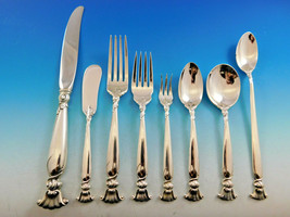 Romance of the Sea Wallace Sterling Silver Flatware Set Shell Motif Dinner 96 Pc - $6,900.00
