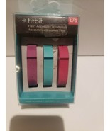 Fitbit Flex 3 Pk Vibrant Accessory Wristbands Bands Violet/Pink/Teal Sma... - $13.57