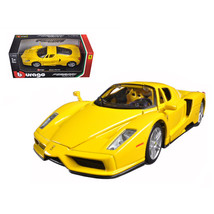 Ferrari Enzo Yellow 1/24 Diecast Model Car by Bburago 26006y - $30.44