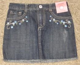 NWT Gymboree Malibu Cowgirl Denim Flower Floral Skirt Size 4 - $23.04