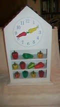 Kitchen Wall or Countertop Clock with Green, Yellow & Red Peppers - $44.55