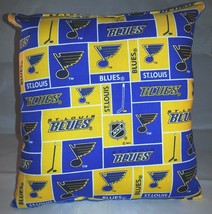 Blues Pillow St Louis Blues Pillow NHL Handmade in USA Pillow - $9.97
