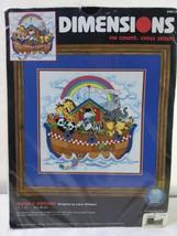 """1999 Dimensions No Count Cross Stitch Kit - Noah's Voyage 12""""x12"""" Vintag... - $19.80"""
