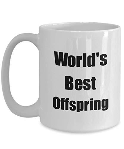Primary image for Worlds Best Offspring Mug Funny Christmas Gift Idea for Novelty Gag Coffee Tea C