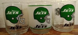 Lot Of 3 New York Jets Nfl Football Highball Glass Mobil Oil And Gas - $14.70