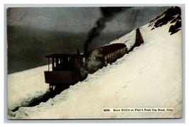 Vintage 1912 Postcard Snow Drifts Pike's Peak Railroad Cars Cog Road Col... - $15.81