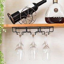 E Support Under Cabinet Stemware Rack Metal Wall Hanging Wine Bottle Glasses Hol - $17.61