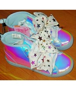 NWT Jojo Siwa Iridescent Bow Shoes High Tops Size 11 - $31.68