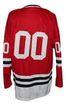 Any Name Number Columbus Owls Retro Hockey Jersey Red Any Size image 5