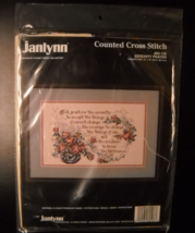 Janlynn Counted Cross Stitch Kit 1991 Serenity Prayer Stoney Creek Sealed Kit - $7.99