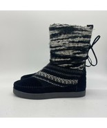 TOMS Nepal Tribal Blanket Boots Suede Leather Moccasins Women's Size 6 - $27.72