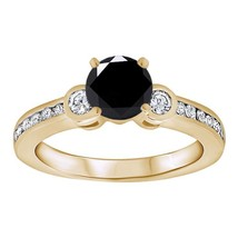 1.22 Ct Round Cut Diamond 14K Yellow Gold Over Solitaire Engagement Wedd... - $76.89