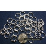 Split rings 10mm silver plated split rings, clasp,  jump rings 50 pcs fp... - $1.95