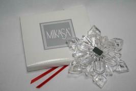 Mikasa Crystal Germany SN001/568 Snowflake Ornament -NEW- - $20.00