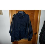 Mens size 3XL navy and yellow windbreaker jacket by SRT new - $24.00