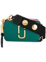 Marc Jacobs Button Snapshot Small Camera Bag Crossbody Bag Green Multi Auth - $285.00