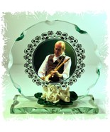 Francis Rossi ' Green Mood' Status Quo Round Cut Glass Plaque Limited Ed... - $33.65