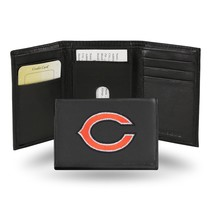 Chicago Bears Wallet Embroidered Trifold Official NFL RICO Leather Black - $33.45