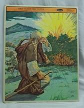 Antique Vintage 1953 Bible Moses Burning Bush Whitman FRAME TRAY PUZZLE  - $14.85