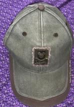 VTG Walt Disney World Resort Metal Badge Hat Green Brown Adult Strap Back Cap - $18.67