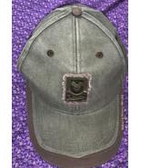 VTG Walt Disney World Resort Metal Badge Hat Green Brown Adult Strap Bac... - $18.67