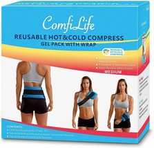 ComfiLife Ice Packs for Injuries – Reusable Hot & Cold Packs with Wrap